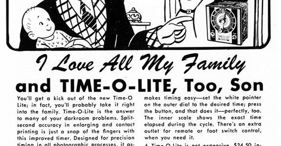 TIME-O-LITE - 1947 Advertisment