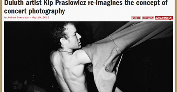 """Duluth artist Kip Praslowicz re-imagines the concept of concert photography"""