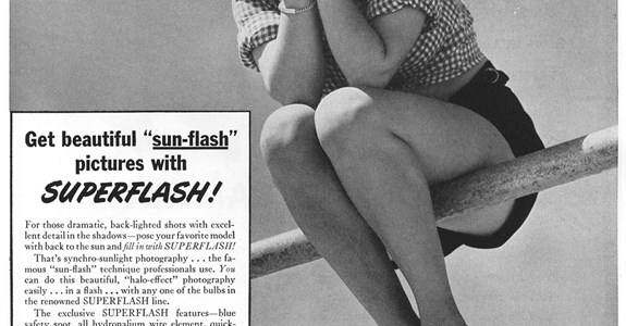 Sylvania SUPERFLASH - 1949 Advertisment