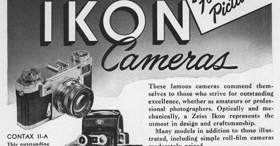 Zeiss Ikon Cameras: For Better Pictures - 1952 Advertisement