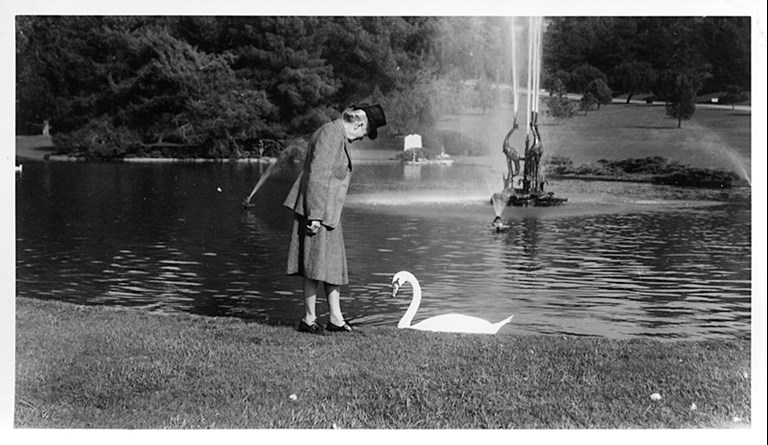 Woman with swan