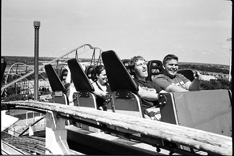 Olympus Trip 35 on a Roller Coaster!