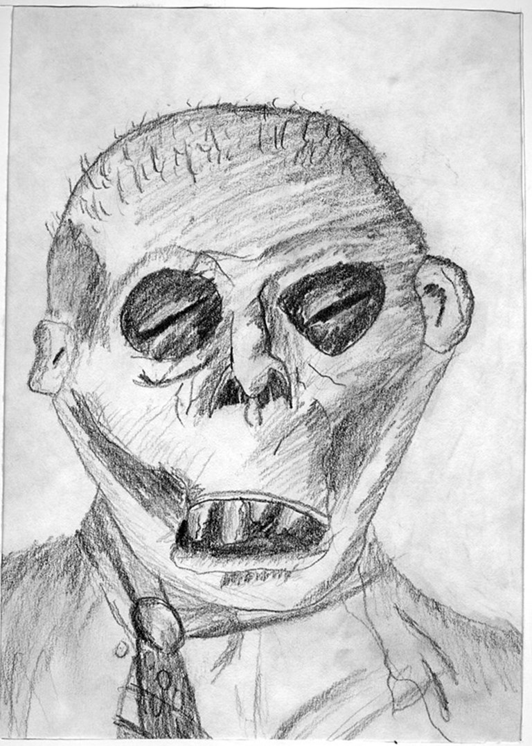 K. Praslowicz Zombie Drawing. c.1991