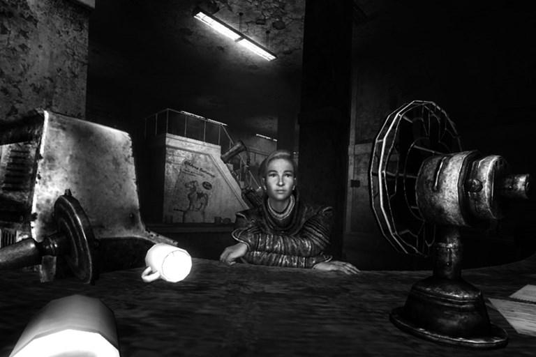 Fallout 3: Portrait near a fan