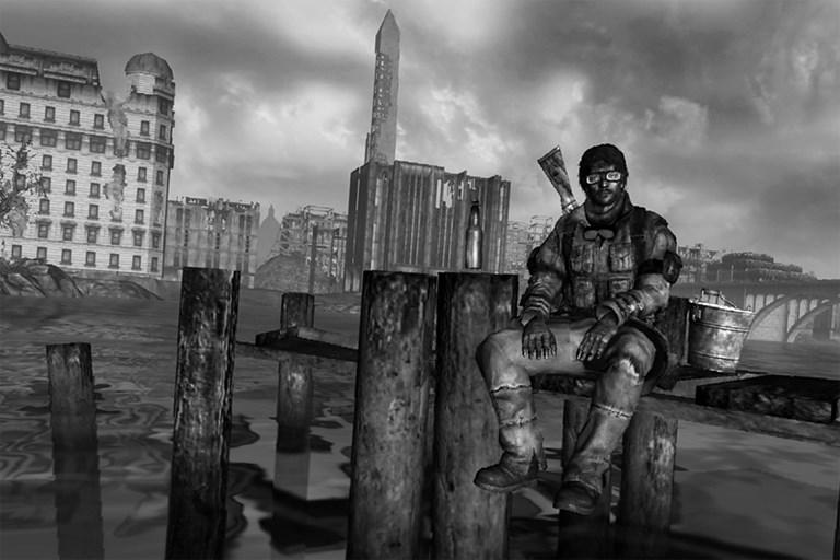 Fallout 3: Sitting on a pier