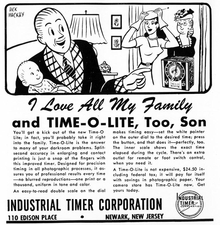 1947 Time-o-Lite Advertisment