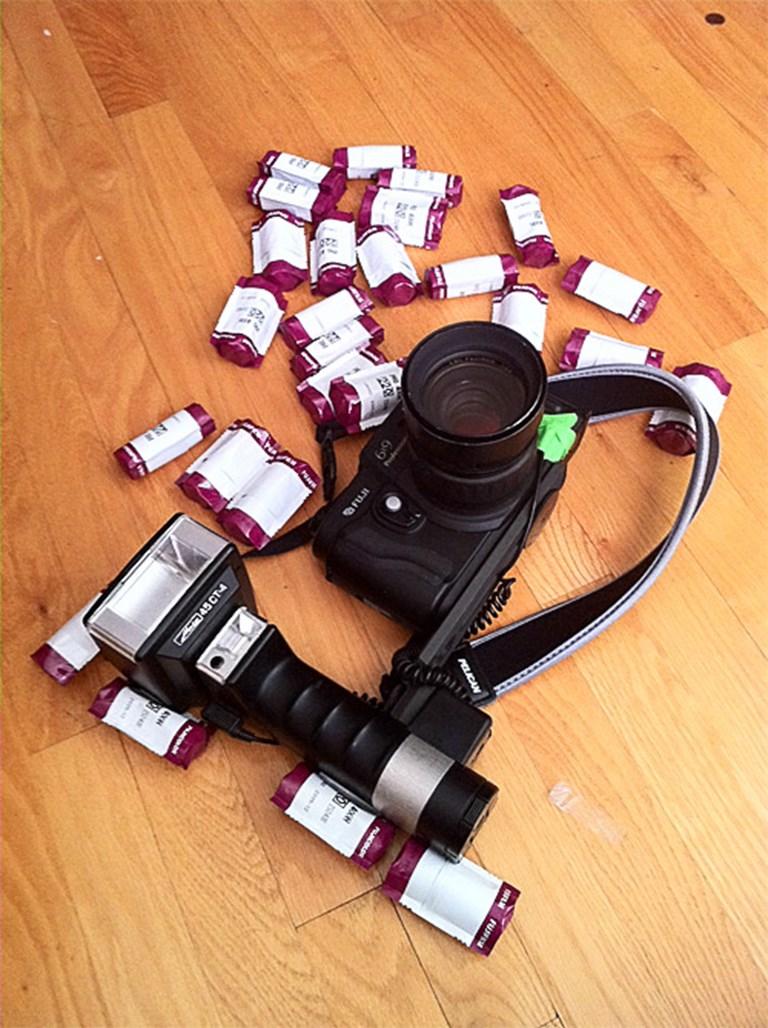 Fuji GW690III with 26 rolls of film