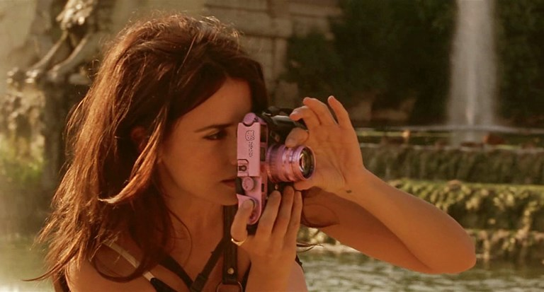 Penélope Cruz With Hello Kitty Leica