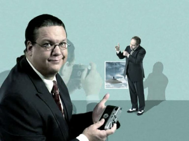 Penn Jillette with a Leica Camera