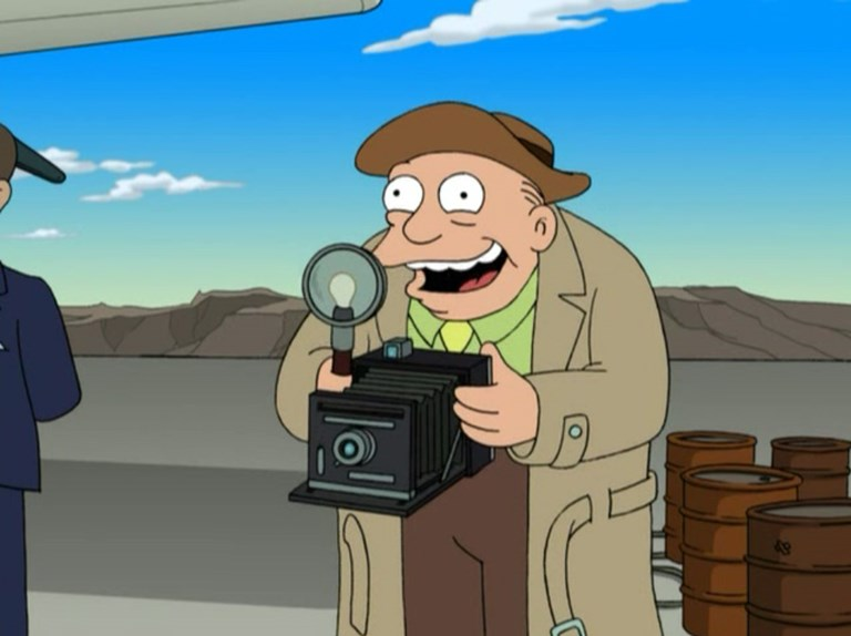 Press Camera in Futurama