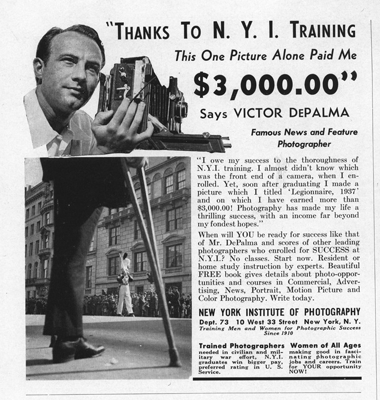 New York Institute Of Photography Ad 1943