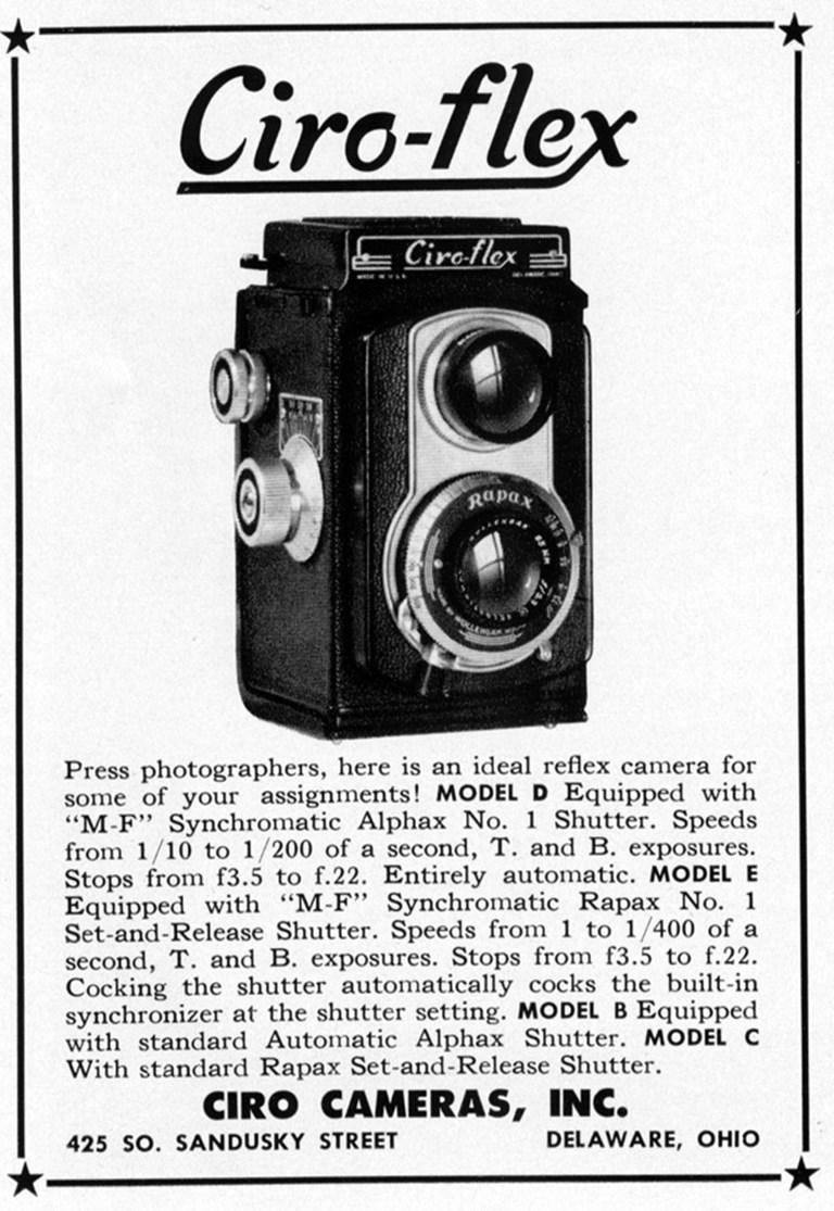 Ciro-flex Camera Advertisement