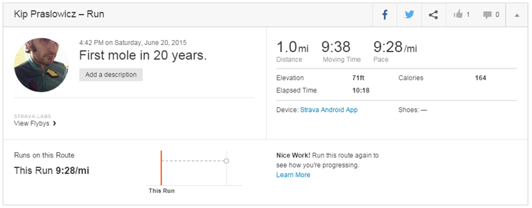 First mole. I mean ... first mile.