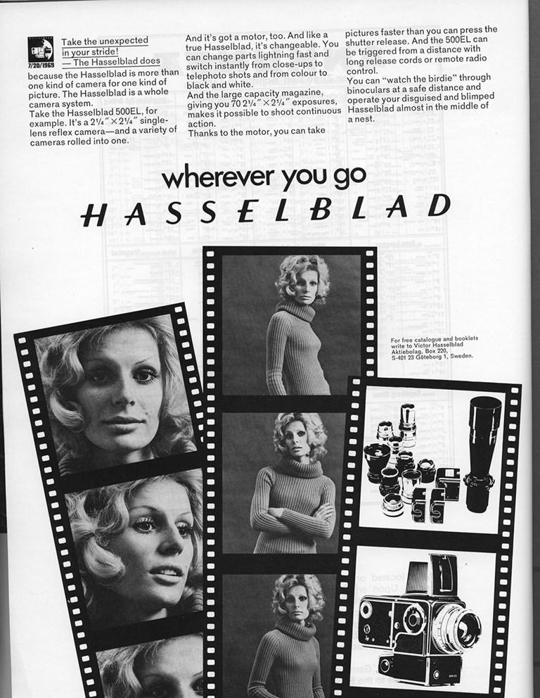 Hasselblad ad 1970