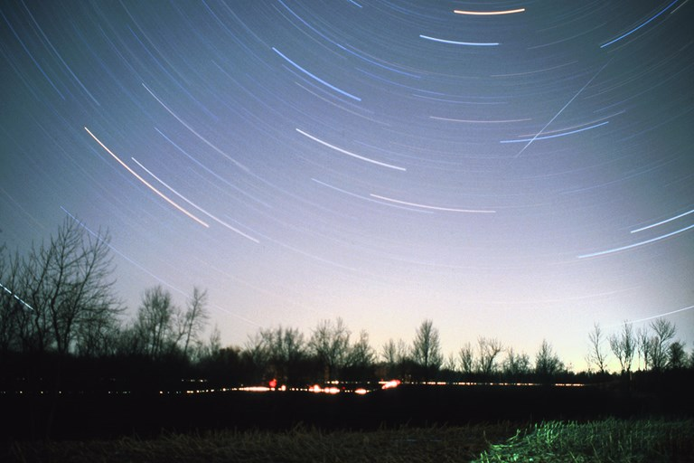 Star Trail Night Photography In Central Wisconsin