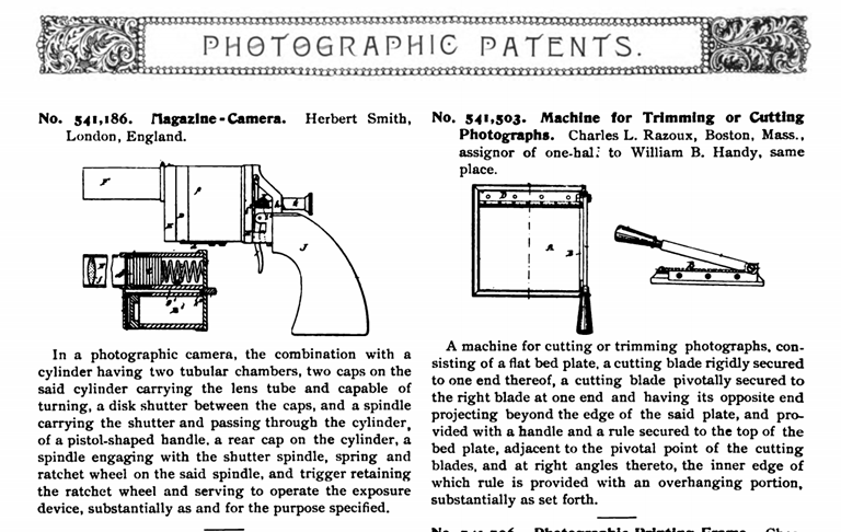 Photography Patents. 1895