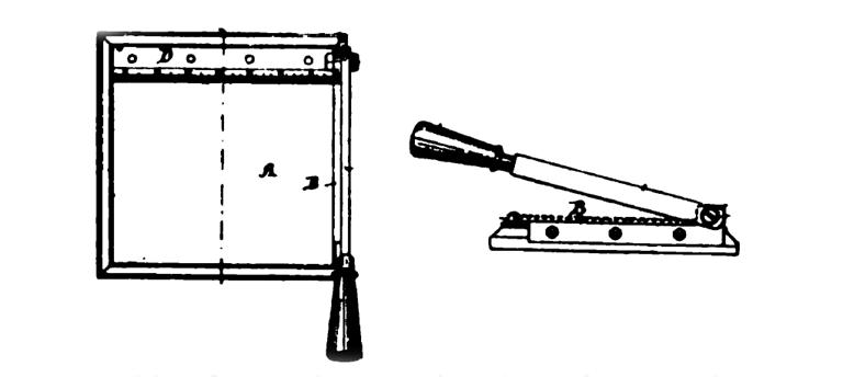 Paper Cutter Patent. 1895