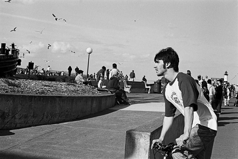 Teenager on a Bike