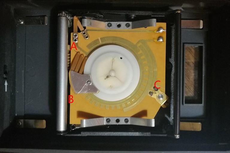 Rolleiflex SLX film back electronics