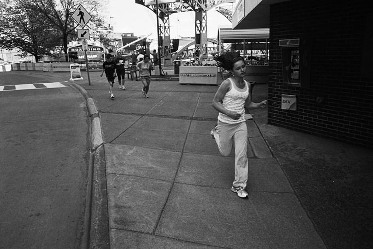 A running girl.