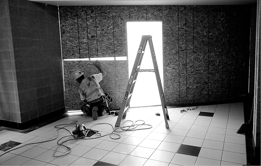 Boarding up The Light