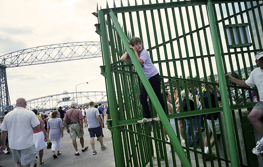 Girl on a Green Gate
