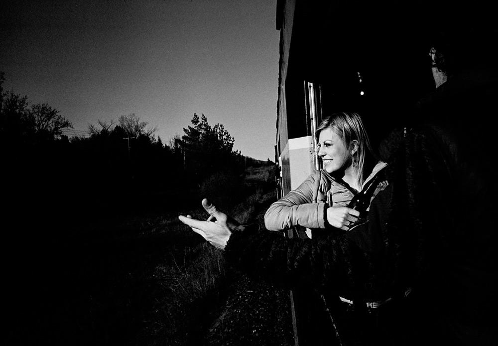 A Woman Rides A Train, May 2011