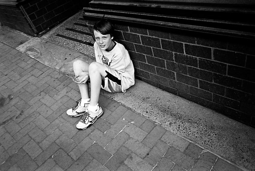 Faux Beggar Child, Duluth, Minnesota, June 2009