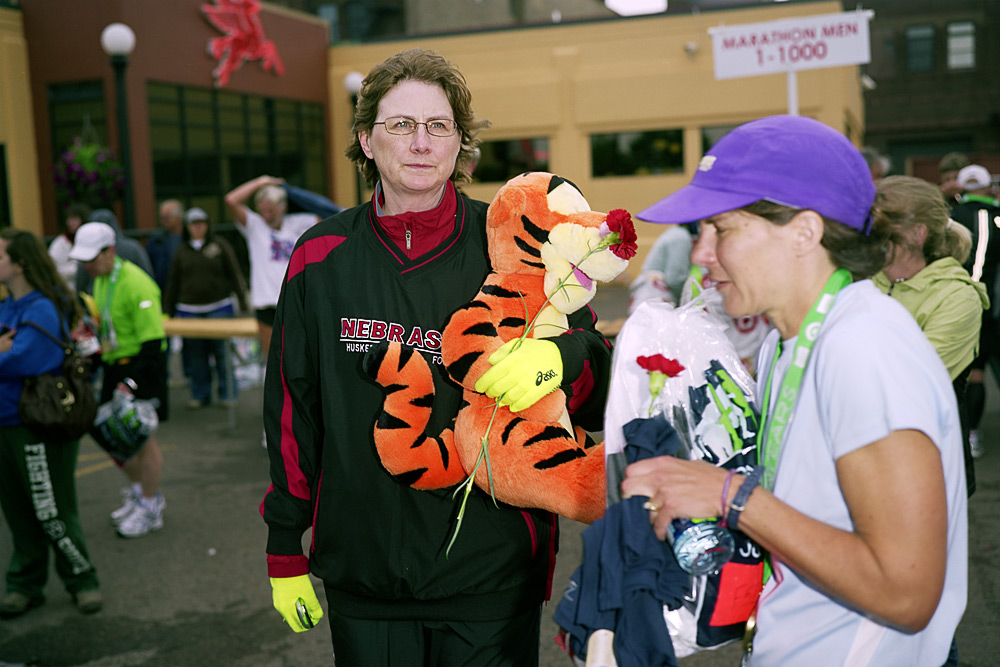 A Woman With A Stuffed Tigger