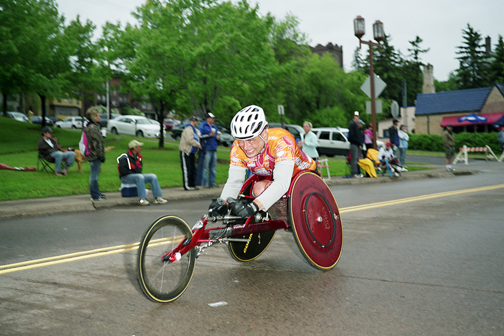 The Man With The Red Wheelchair