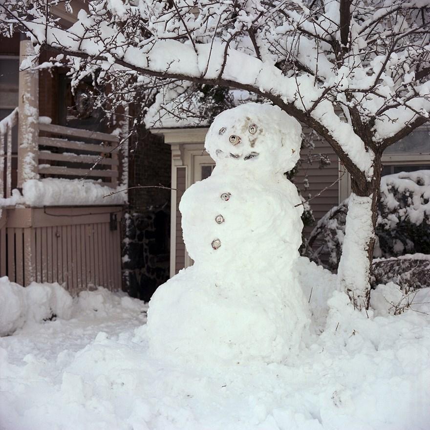 Beer Can Snowman, Duluth, Minnesota, December 2013