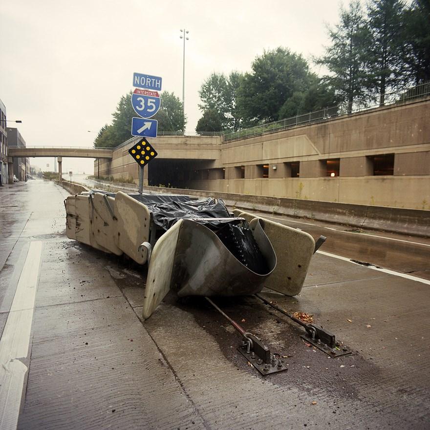 Crash Barrier, Post Crash, Duluth, Minnesota, August 2013