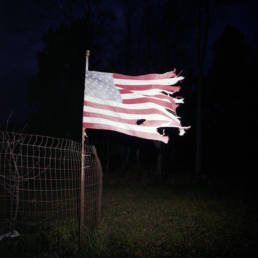 Weathered American Flag, Wisconsin, November 2013