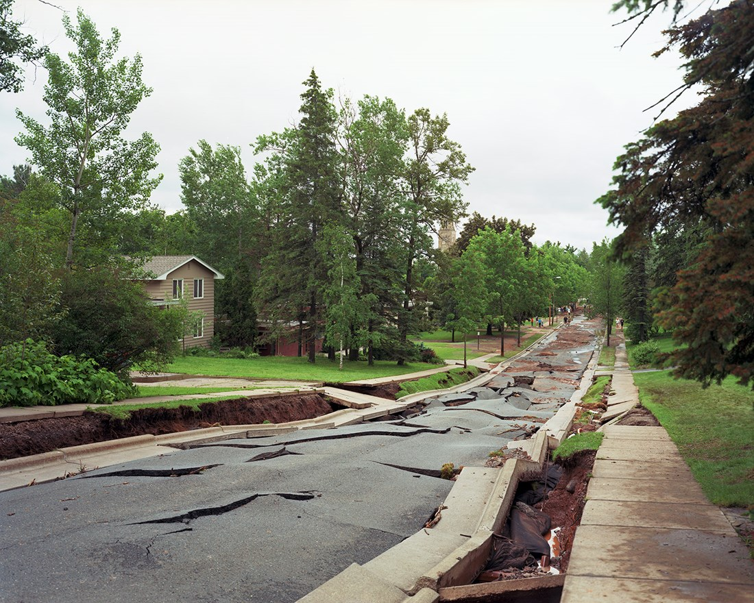 Collapse of Vermilion Road, Duluth, Minnesota, June 2012