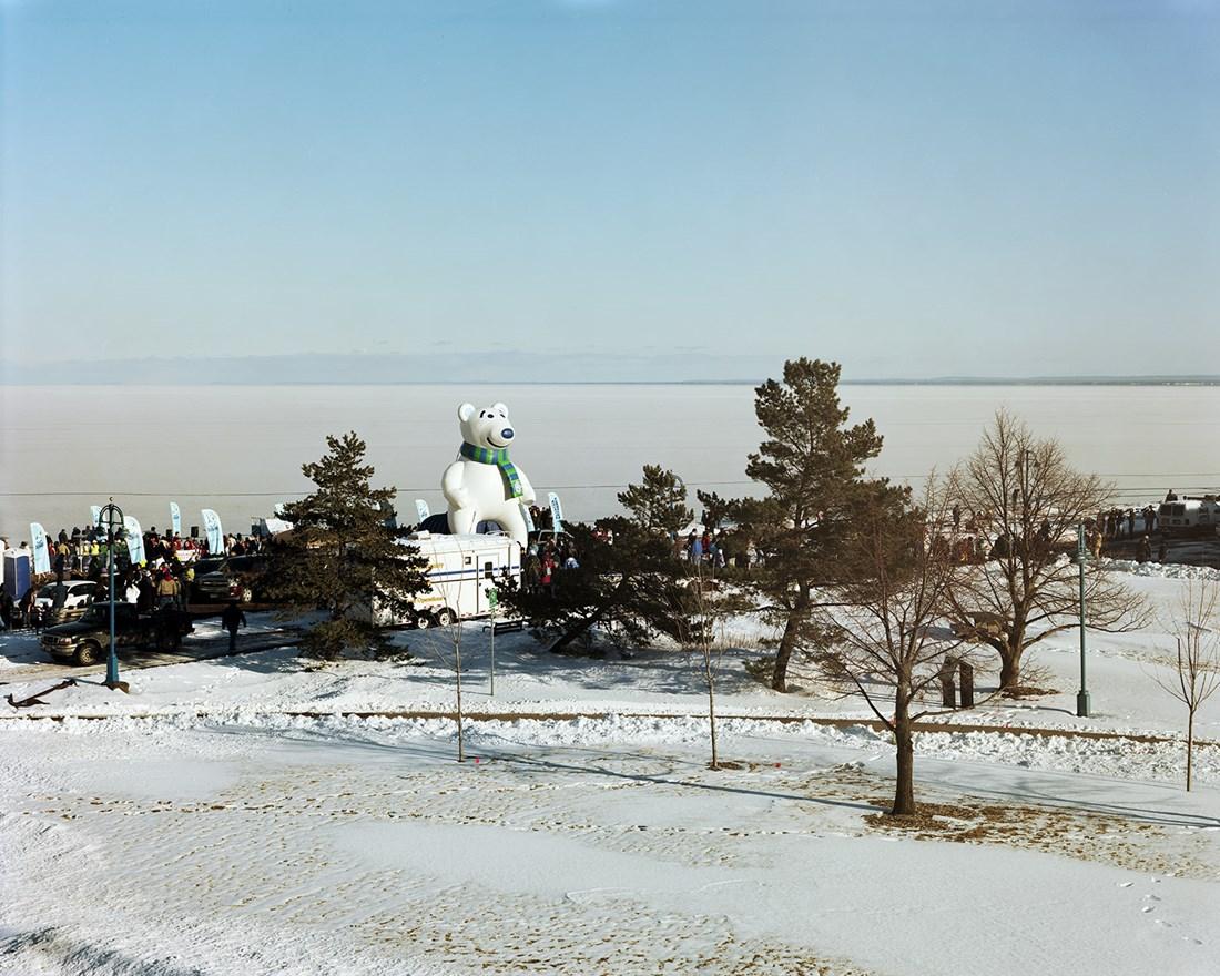 Giant Inflatable Bear, Duluth, Minnesota, February 2013