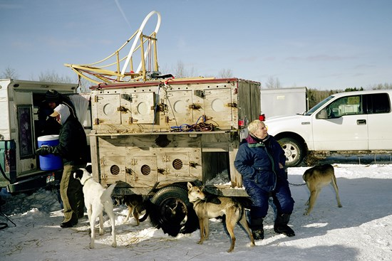 A Woman Sits On A Trailer, January 2011