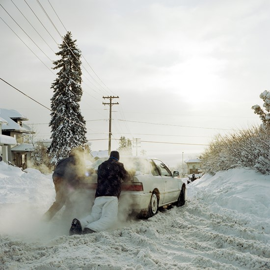 Stuck Car, Duluth, Minnesota, December, 2013