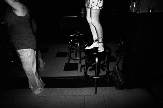 A Woman On A Bar Stool, August, 2011