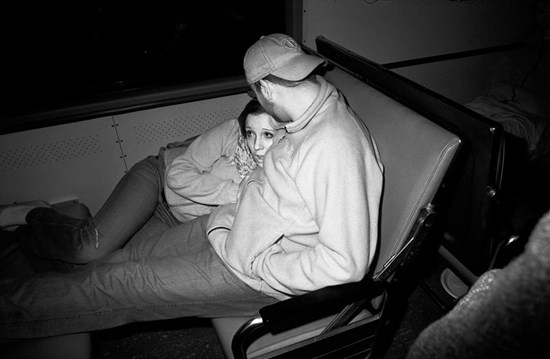 Cuddle On A Train, May, 2011