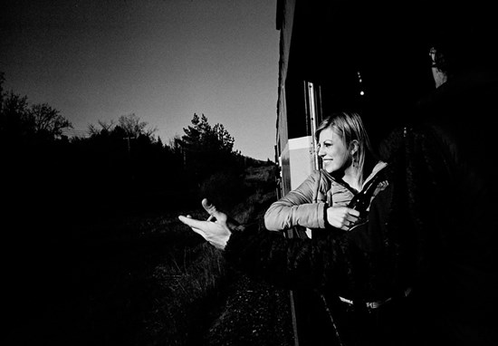 A Woman Rides A Train, May, 2011