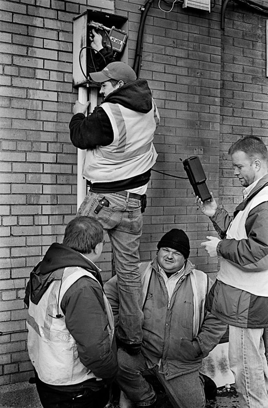Human Step Ladder, Duluth, Minnesota, December 2007