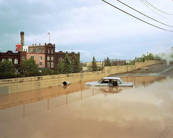 Flooded Volvo, Duluth, Minnesota, June, 2012