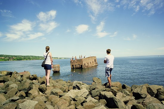 Watching Divers Dive, Duluth, Minnesota, July, 2011