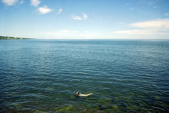 A Swimmer Swims, Duluth, Minnesota, July, 2011