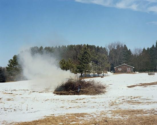 Burning Brush, Esko, Minnesota, March 2012