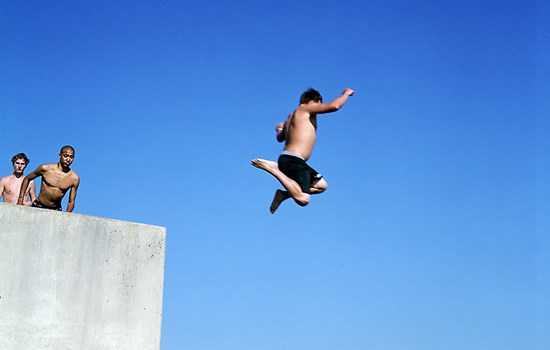 Jumping Into Lake Superior, Duluth, Minnesota, August, 2010