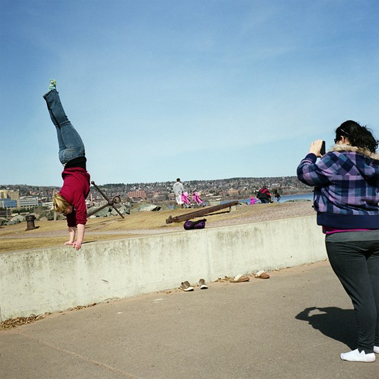 Handstand, Duluth, Minnesota, March 2010