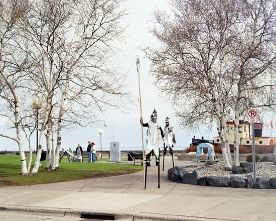 Stiltwalking Smelt, Duluth, Minnesota, April, 2012