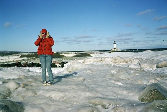 Waves Crashing, Duluth, Minnesota, March, 2011