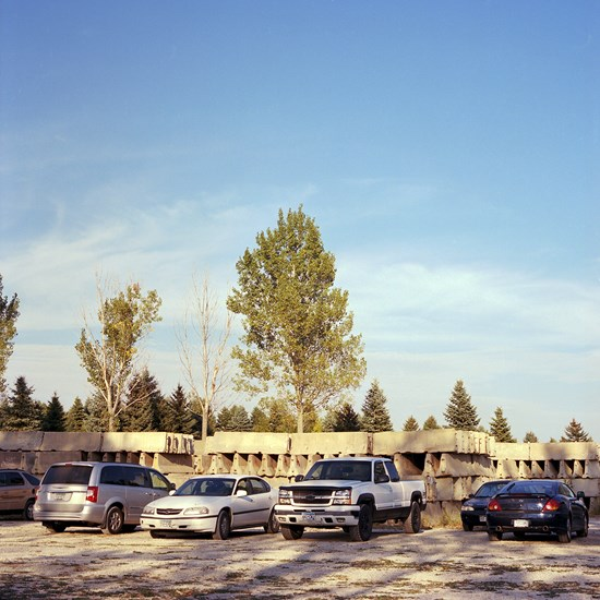 Parked Cars & Concrete Barriers, Lakeville, Minnesota, September 2013